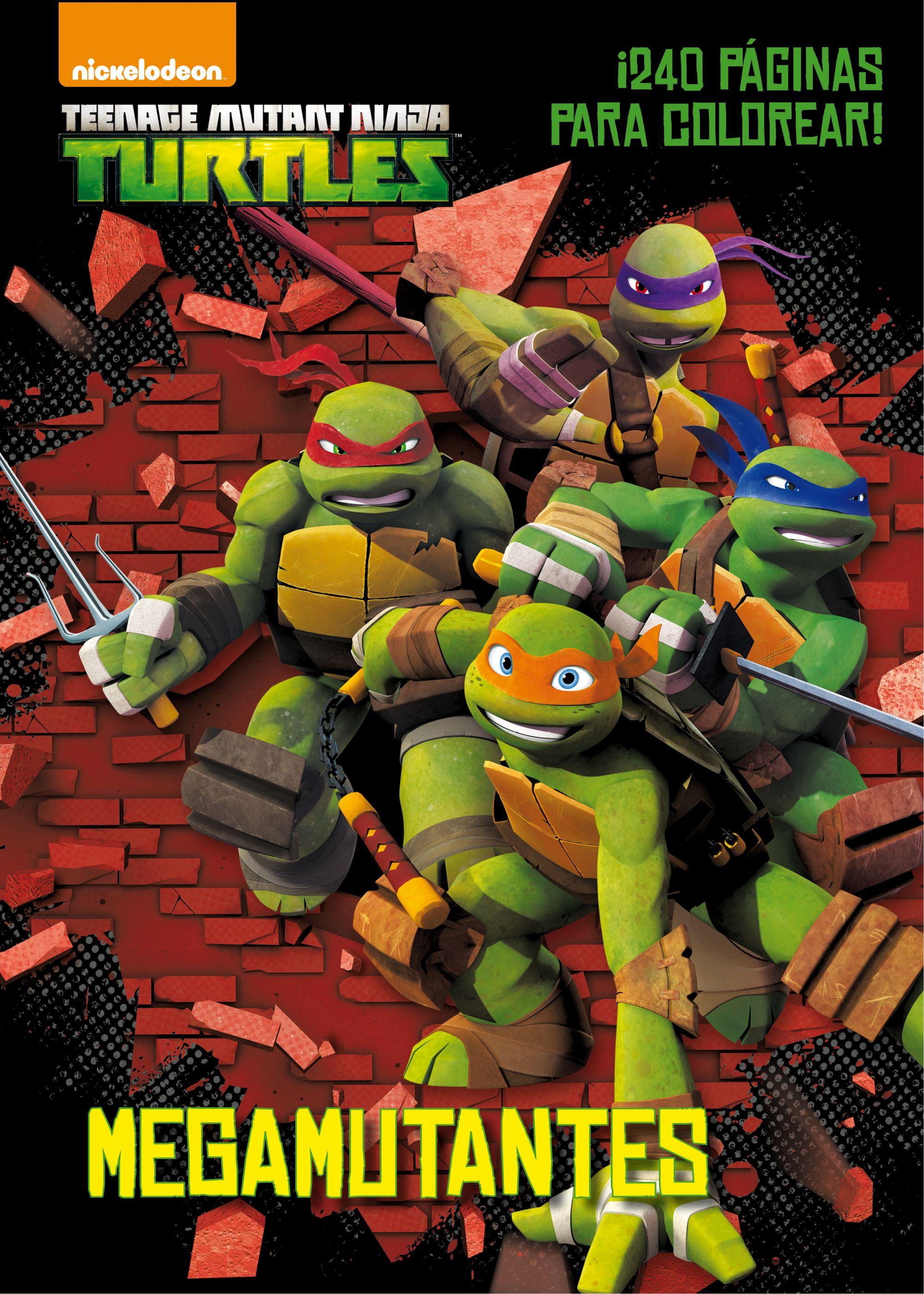 Moderno Tortugas Ninja Mutantes Adolescentes Para Colorear Libro ...